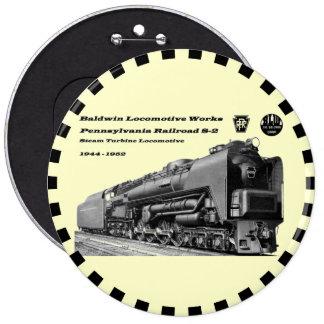 Baldwin Locomotive Works S-2 PRR Steam Turbine Button