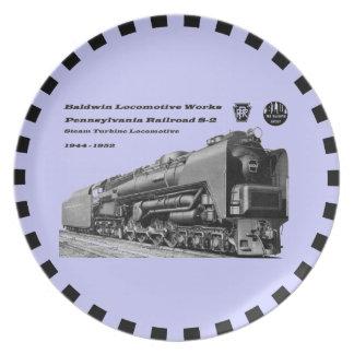 Baldwin Locomotive Works S-2 PRR Steam Turbine Dinner Plate
