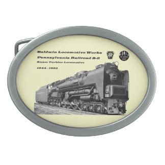 Baldwin Locomotive Works S-2 PRR Steam Turbine Oval Belt Buckle
