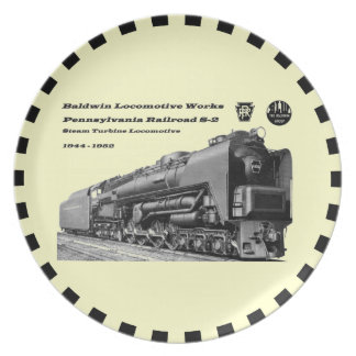 Baldwin Locomotive Works S-2 PRR Steam Turbine Plate
