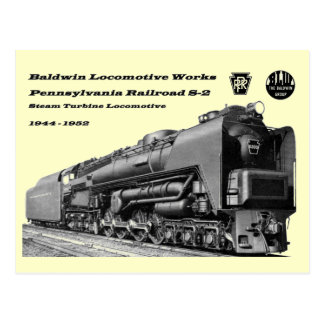 Baldwin Locomotive Works S-2 PRR Steam Turbine Postcard