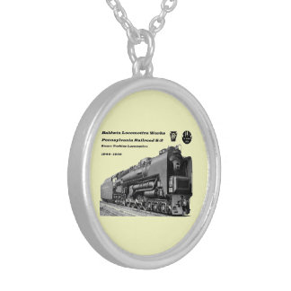 Baldwin Locomotive Works S-2 PRR Steam Turbine Silver Plated Necklace