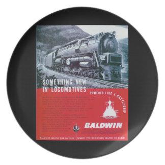 Baldwin Locomotive Works S-2 Steam Turbine Plate