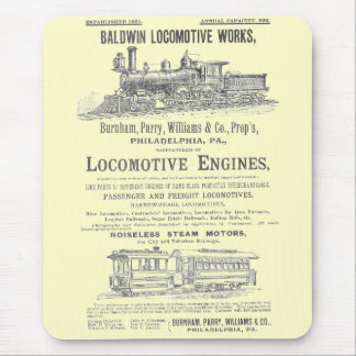 Baldwin Locomotive Works  Steam Locomotives Mouse Pad