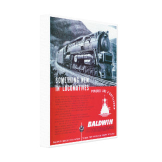 Baldwin Locomotive Works Steam Turbine Locomotive Canvas Print