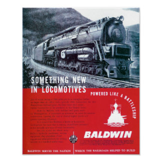 Baldwin Locomotive Works Steam Turbine Locomotive Poster