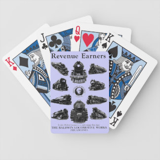 Baldwin Locomotives,Revenue Earners Bicycle Playing Cards