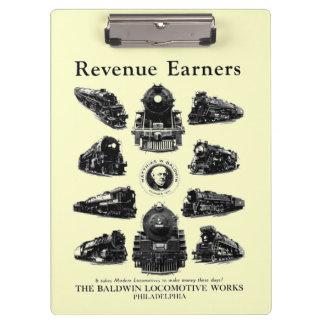 Baldwin Locomotives, Revenue Earners Clipboards