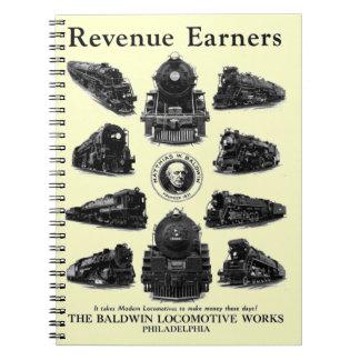 Baldwin Locomotives, Revenue Earners Notebooks