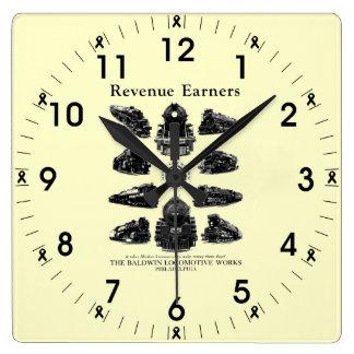 Baldwin Locomotives,Revenue Earners Wall Clocks