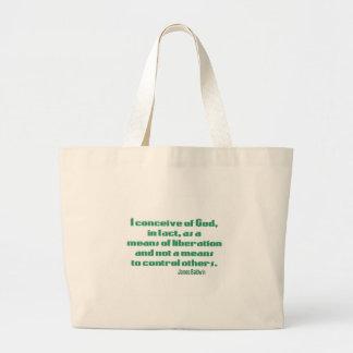 Baldwin on God Large Tote Bag