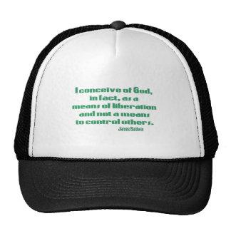 Baldwin on God Trucker Hat