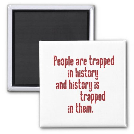 Baldwin on History 2 Inch Square Magnet