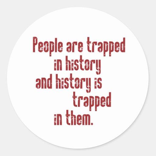 Baldwin on History Classic Round Sticker