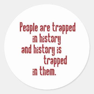 Baldwin on History Round Sticker