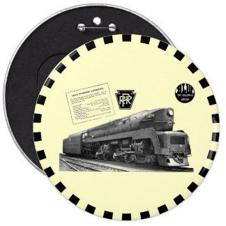 Baldwin-Pennsylvania Railroad T-1 Steam Locomotive Button