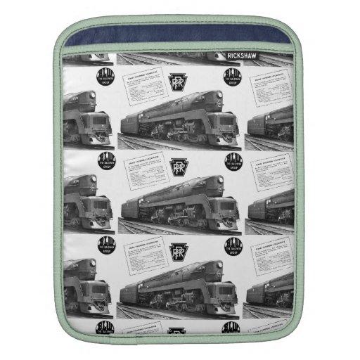 Baldwin-Pennsylvania Railroad T-1 Steam Locomotive iPad Sleeve