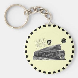 Baldwin-Pennsylvania Railroad T-1 Steam Locomotive Keychain