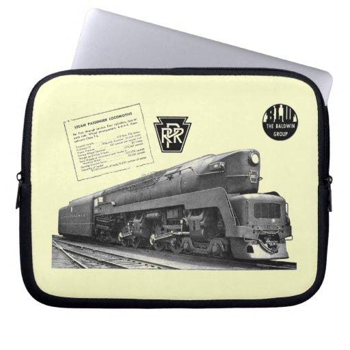 Baldwin-Pennsylvania Railroad T-1 Steam Locomotive Laptop Sleeve