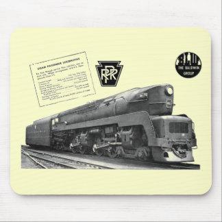 Baldwin-Pennsylvania Railroad T-1 Steam Locomotive Mouse Pad