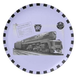 Baldwin-Pennsylvania Railroad T-1 Steam Locomotive Plate