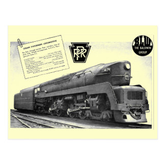 Baldwin-Pennsylvania Railroad T-1 Steam Locomotive Post Cards