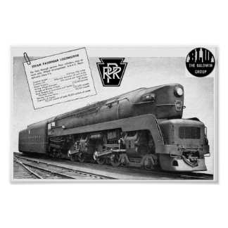 Baldwin-Pennsylvania Railroad T-1 Steam Locomotive Poster
