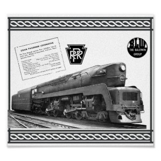 Baldwin-Pennsylvania Railroad T-1 Steam Locomotive Poster