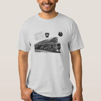Baldwin-Pennsylvania Railroad T-1 Steam Locomotive Tee Shirt