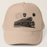 Baldwin-Pennsylvania Railroad T-1 Steam Locomotive Trucker Hat