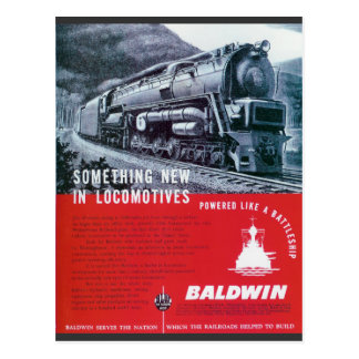 Baldwin-PRR S-2 Steam Turbine Postcard