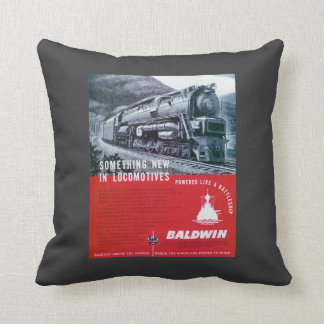 Baldwin-PRR S-2 Steam Turbine Throw Pillow