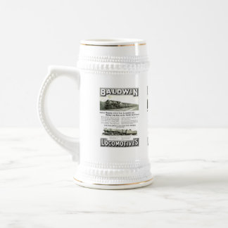 Baldwin Steam Locomotive Mountain Type in 1924 Beer Stein
