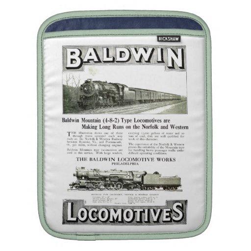 Baldwin Steam Locomotive Mountain Type in 1924 Sleeve For iPads