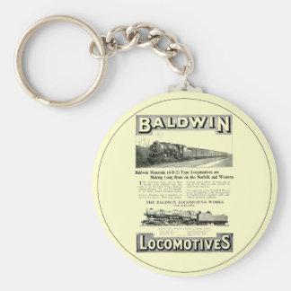 Baldwin Steam Locomotive Mountain Type in 1924 Keychain