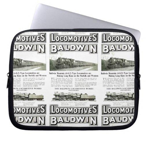 Baldwin Steam Locomotive Mountain Type in 1924 Computer Sleeves