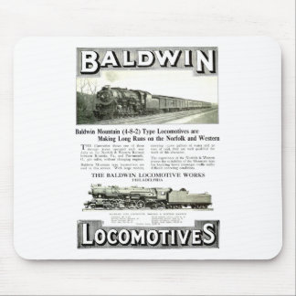 Baldwin Steam Locomotive Mountain Type in 1924 Mouse Pad