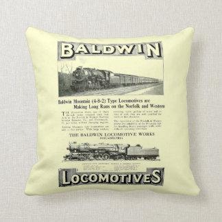 Baldwin Steam Locomotive Mountain Type in 1924 Throw Pillow