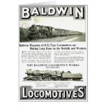 Baldwin Steam  Locomotive Works Stationery Note Card