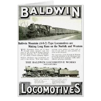 Baldwin Steam  Locomotive Works Card