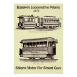 Baldwin Steam Motor For Street Cars 1876 Poster
