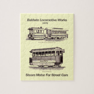 Baldwin Steam Motor For Street Cars 1876 Puzzle