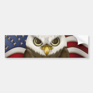 Baldwin The Cute Bald Eagle Bumper Sticker