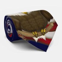 Baldwin The Cute Bald Eagle Neck Tie