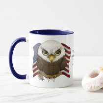 Baldwin The Cute Bald Eagle Personalized Mug