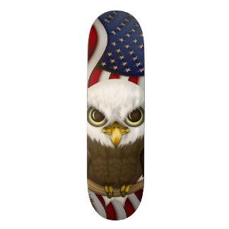 Baldwin The Cute Bald Eagle Skateboard Deck
