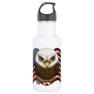Baldwin The Cute Bald Eagle Stainless Steel Water Bottle