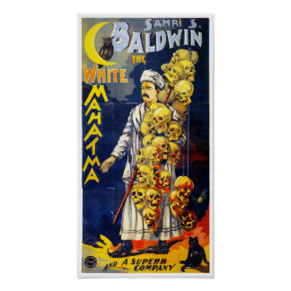 Baldwin The White Mahatma Vintage Poster