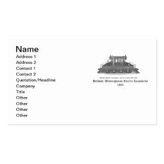 Baldwin Westinghouse Electric locomotive 1893 Business Card Templates