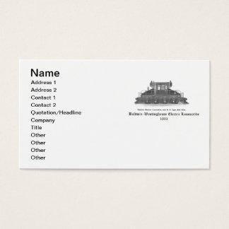 Baldwin Westinghouse Electric locomotive 1893 Business Card